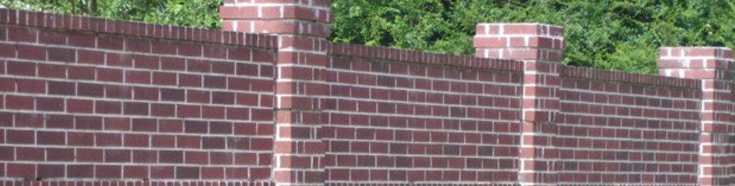 Masonry Fence Houston Including Masonry Planters And