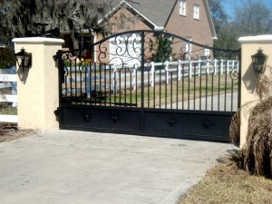 Beautiful aluminum gate by Fencemaster