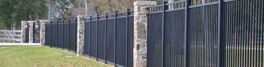 Commercial aluminum fencing houston