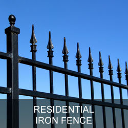 Residential Iron Fence Gallery