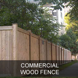 Commercial Wood Fence Gallery