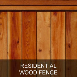 Residential Wood Fence Gallery